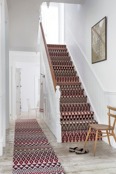 patterned stair carpet idea