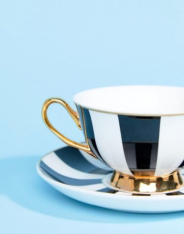Bombay Duck China Stripy Teacup and Saucer