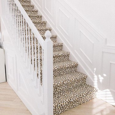 leopard stair carpet idea
