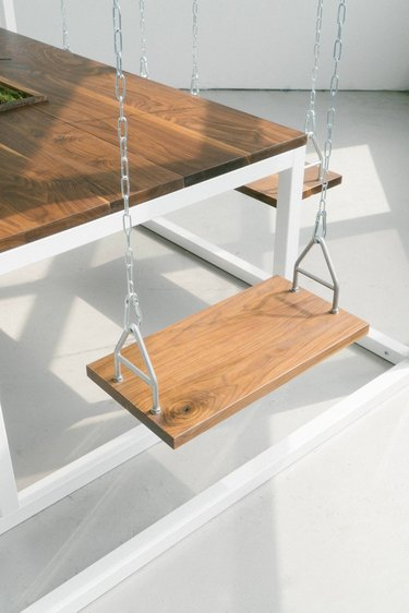 wood swing chair