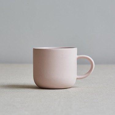 blush room decor with pink ceramic mug by ACACIA