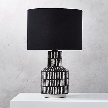 CB2 Hatch Black and White Table Lamp