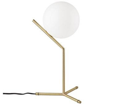 France & Son High Brass Ball Table Lamp