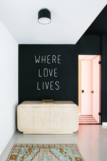 neon sign in entryway