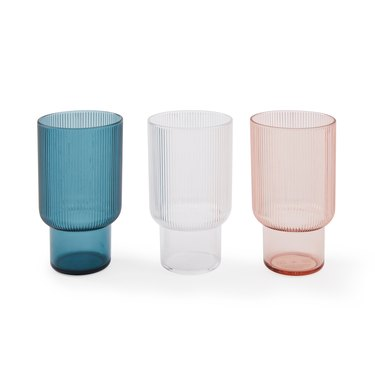 fluted acrylic glasses