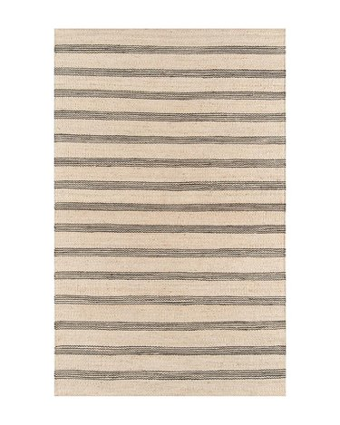 Bunbury Charcoal Jute Rug From McGee & Co. for rustic bedroom idea