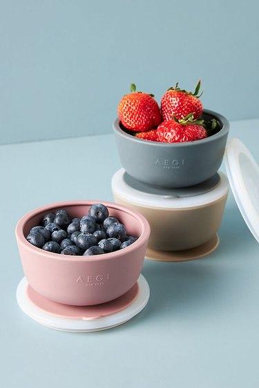 Pastel Silicone Storage Bowl