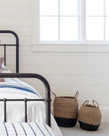 McGee & Co. Bastina Baskets for rustic bedroom idea