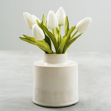 Faux Tulip Bundle from Magnolia for rustic bedroom idea