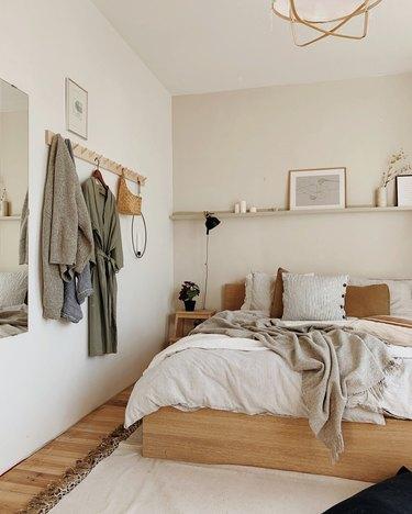 Scandi IKEA bedroom idea in neutral palette