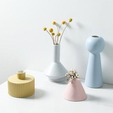 pastel vases
