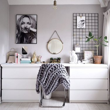 IKEA bedroom idea with office