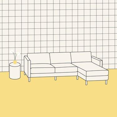 sectional sofa illustration