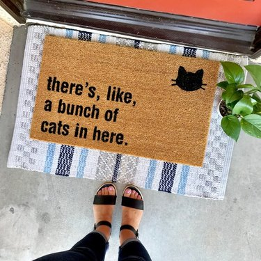layered doormat