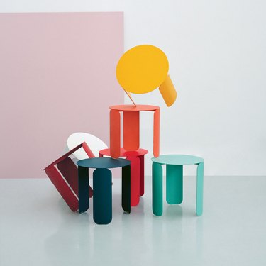 small colorful tables