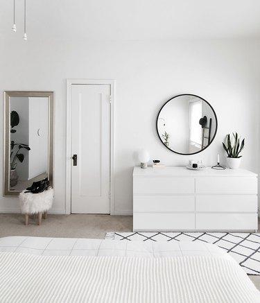 white minimalist IKEA bedroom idea