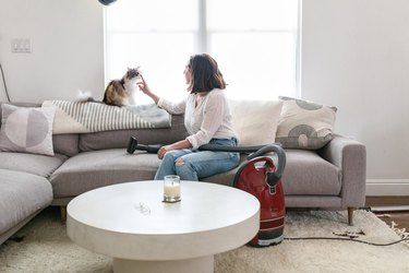 Molly Madfis with Miele Vacuum
