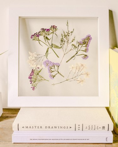 Framed Pressed Flowers DIY