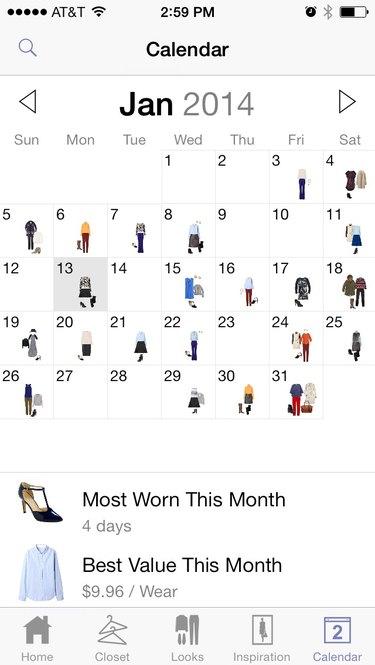 Screenshot of Stylebook app