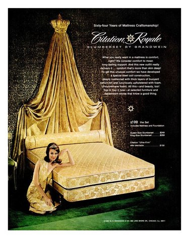 king bed vintage ad