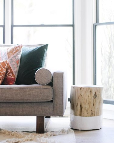 Wood end table DIY home decor idea for your living room