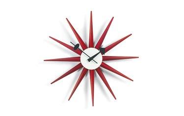 midcentury modern starburst clock