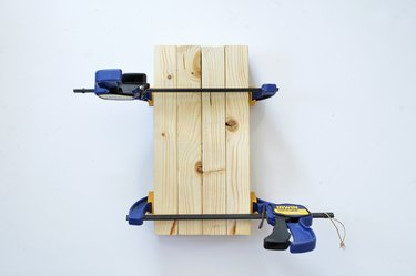 Using hand clamps to hold wood together