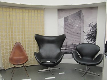 three chairs by Arne Jacobsen