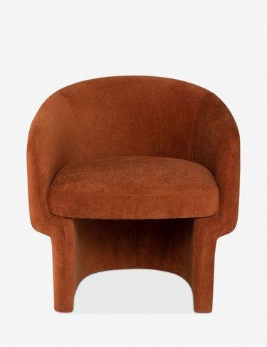 terra cotta accent chair