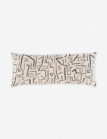 lumbar patterned pillow
