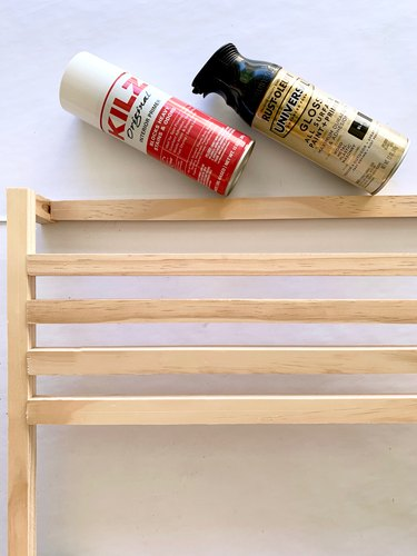 spray paint for modern towel rack DIY
