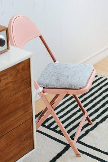 Folding Chair with DIY seat cushion