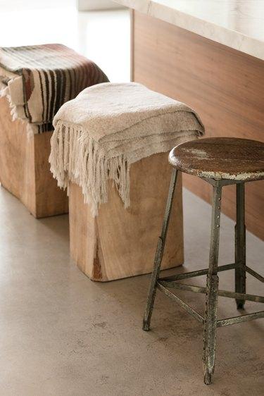 Kitchen island stools, wood
