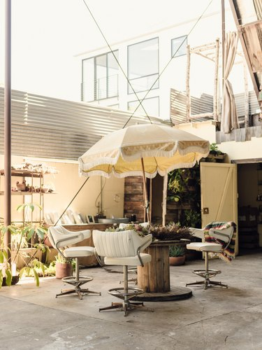 Patio at studio with outdoor furniture