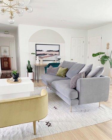 shop the room velvet living room