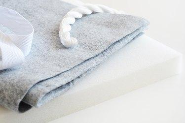 felt fabic, embroidery thread, cotton webbing