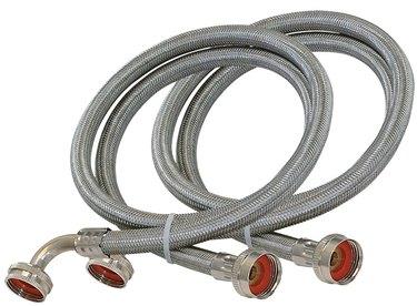Steel washing machine hoses.