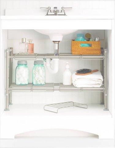 target 88 main under sink storage rack