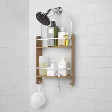 umbra barrel shower caddy
