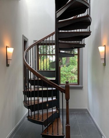 spiral traditional staircase