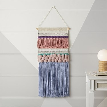 crate and kids wall hanging