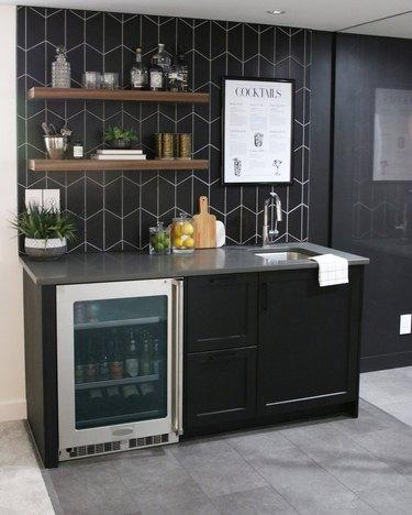 basement storage ideas with floating shelves