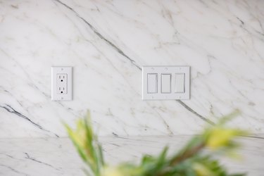 electric outlet and light switch