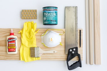 Here's what you'll need to make your own DIY Modern Wood Bath Tray.