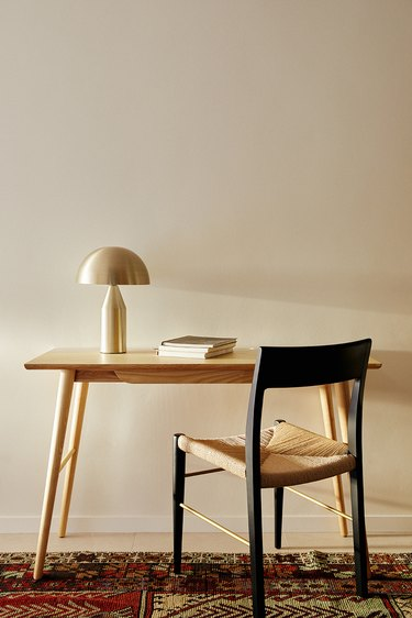 Desk, Lamp and Dining Chair