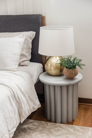 DIY Ribbed Side Table