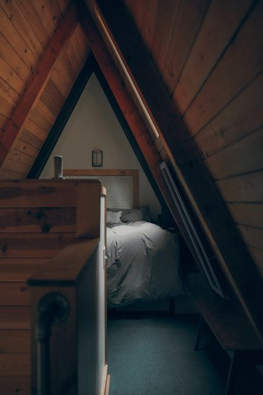Small attic ideas for a small nook converted into a bedroom