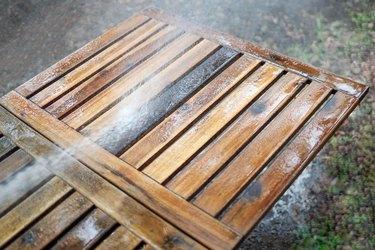rinse off wood