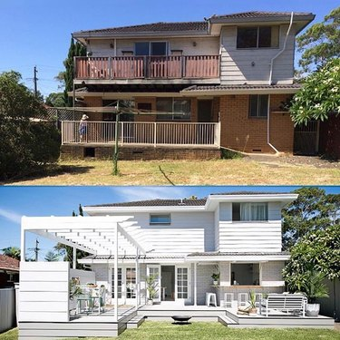 home exterior before/after