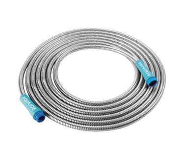 Stainless steel hose by Aqua Joe.